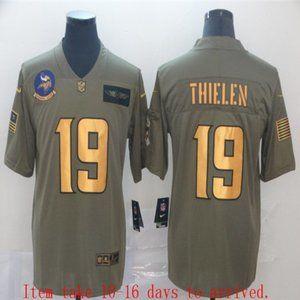 Minnesota Vikings Adam Thielen Jersey Olive